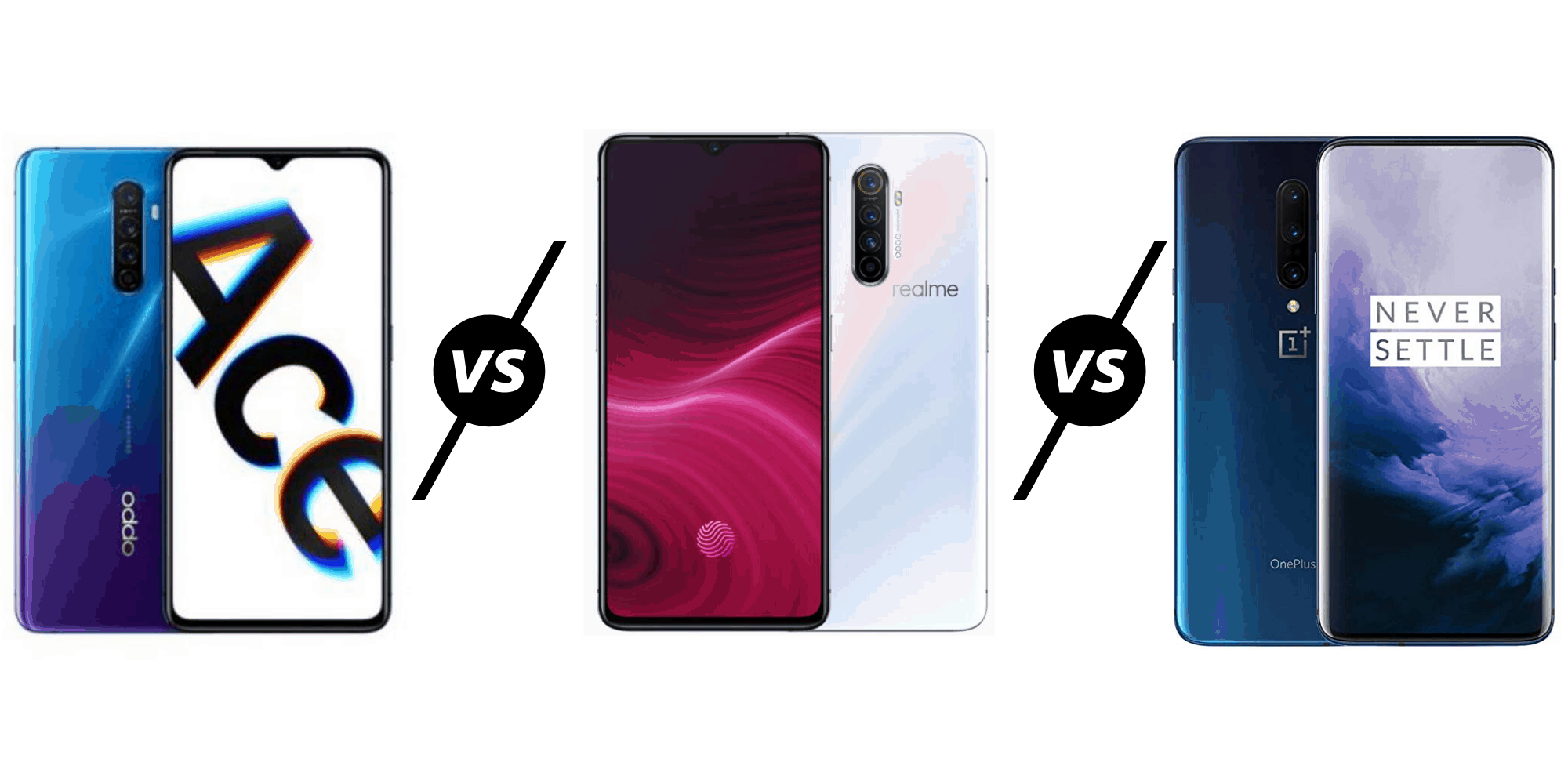 Oppo Reno Ace vs Realme X2 Pro vs OnePlus 7T Compared – Three phones with very similar specs