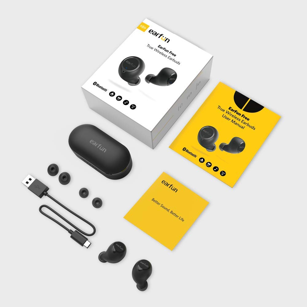 EarFun Free True Wireless Earbuds Review - Affordable TWS earphones with USB Type-C & 6 hours charge 3