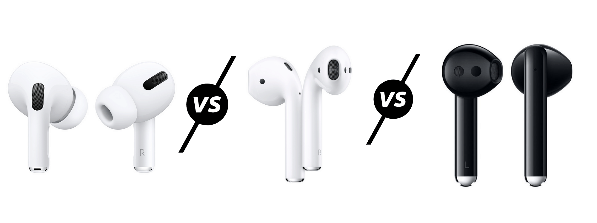 Apple AirPods Pro vs AirPods 2 vs Huawei Freebuds 3 Compared