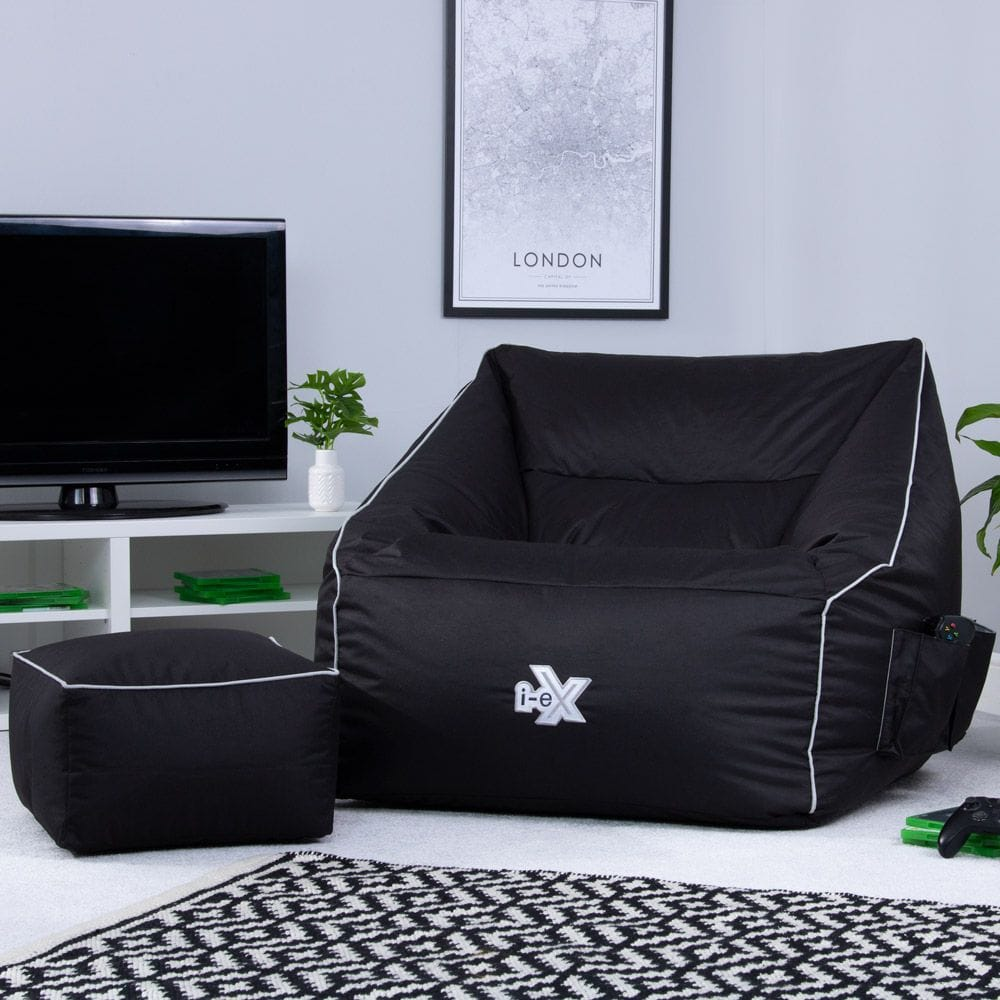 BeanBagBazaar i-eX Player Gaming Armchair Bean Bag and Footstool Review 2