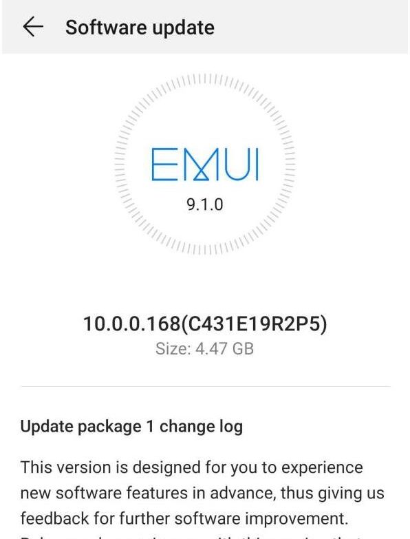 P30 Pro  EMUI 10 stable update in Europe