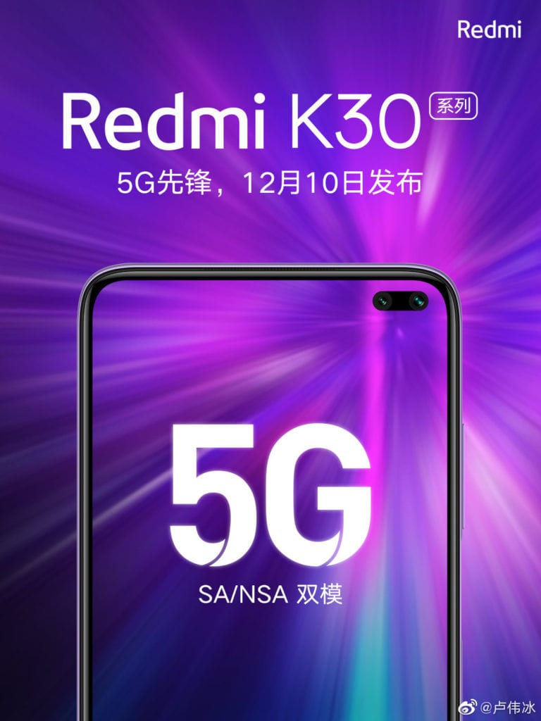 5G Xiaomi Redmi K30 launches 10th December in China with Snapdragon 735 2