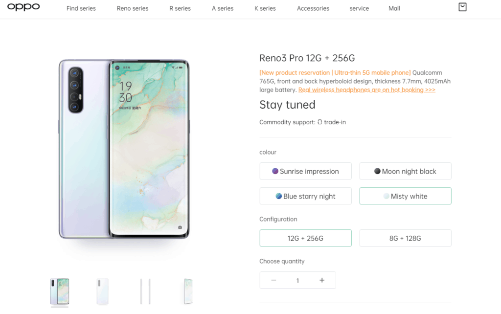 OPPO Reno3 Geekbech results show differences between Snapdragon 765G & MediaTek Dimensity 1000L 3
