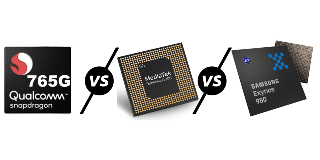 Qualcomm Snapdragon 765G vs Mediatek Dimensity 1000L MT6885 vs Samsung Exynos 980 Antutu Benchmarks – Which mid-range 5G chipset has the best performance?