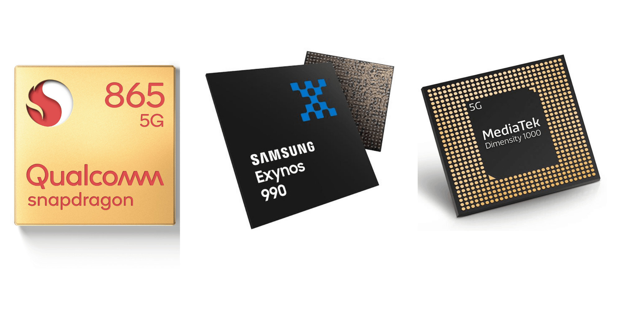 Qualcomm Snapdragon 865 vs Samsung Exynos 990 vs MediaTek Dimensity 1000 vs Huawei Kirin 990 5G