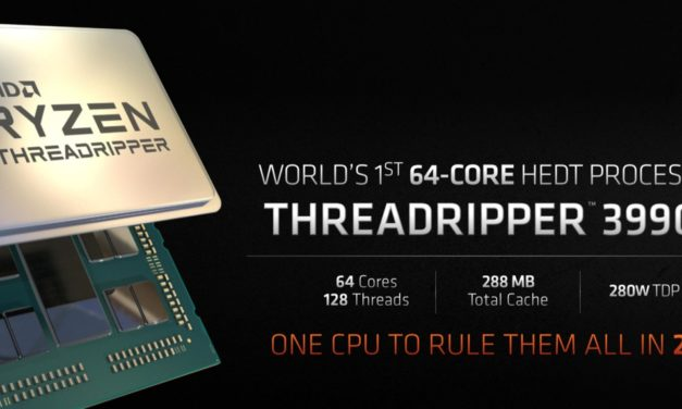 AMD Threadripper 3990X doubles the cores & L3 cache of 3970X with an overclocked EPYC 7702P. Charges you $3990