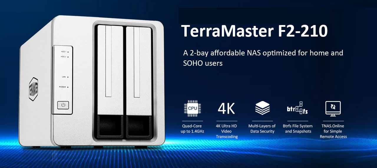 TerraMaster F2-210 NAS Review – A cheap NAS, but is it good? How does it compare vs Synology DS218j