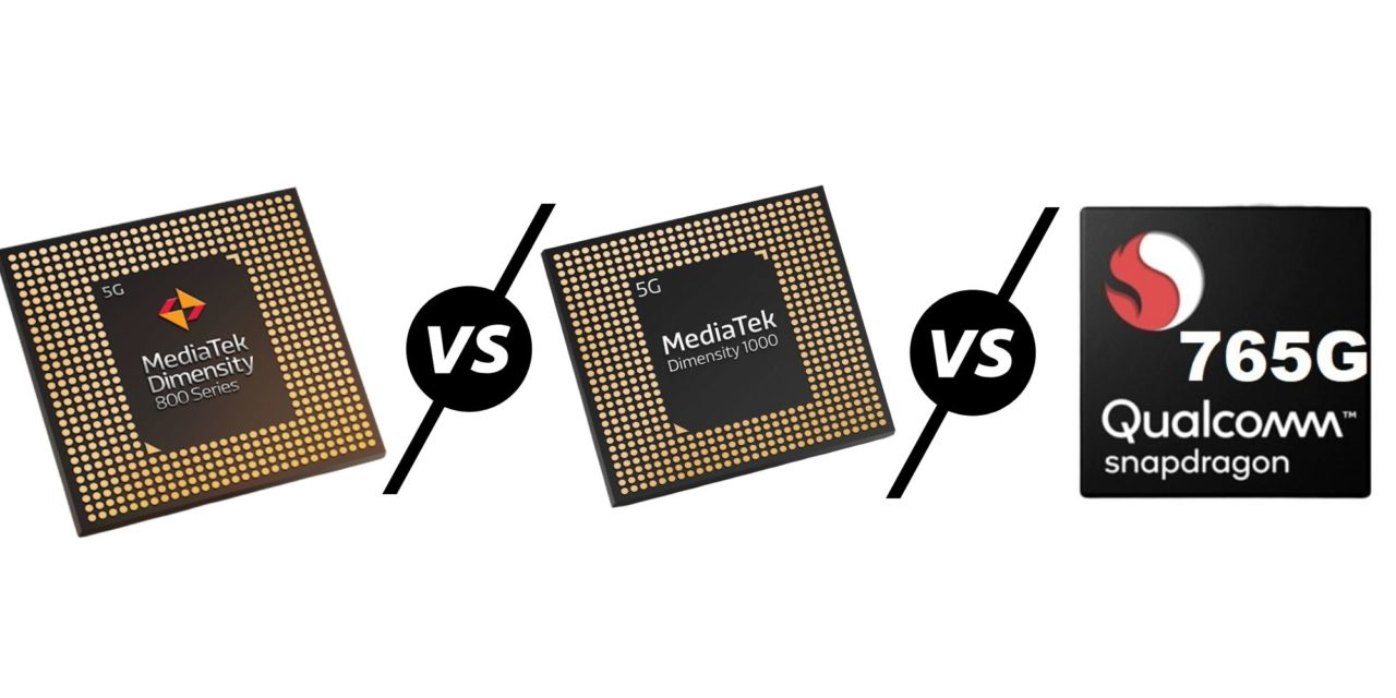 MediaTek Dimensity 800 vs Dimensity 1000L & 1000 vs Qualcomm Snapdragon 765G – MediaTek's increasingly confusing SoC line-up compared