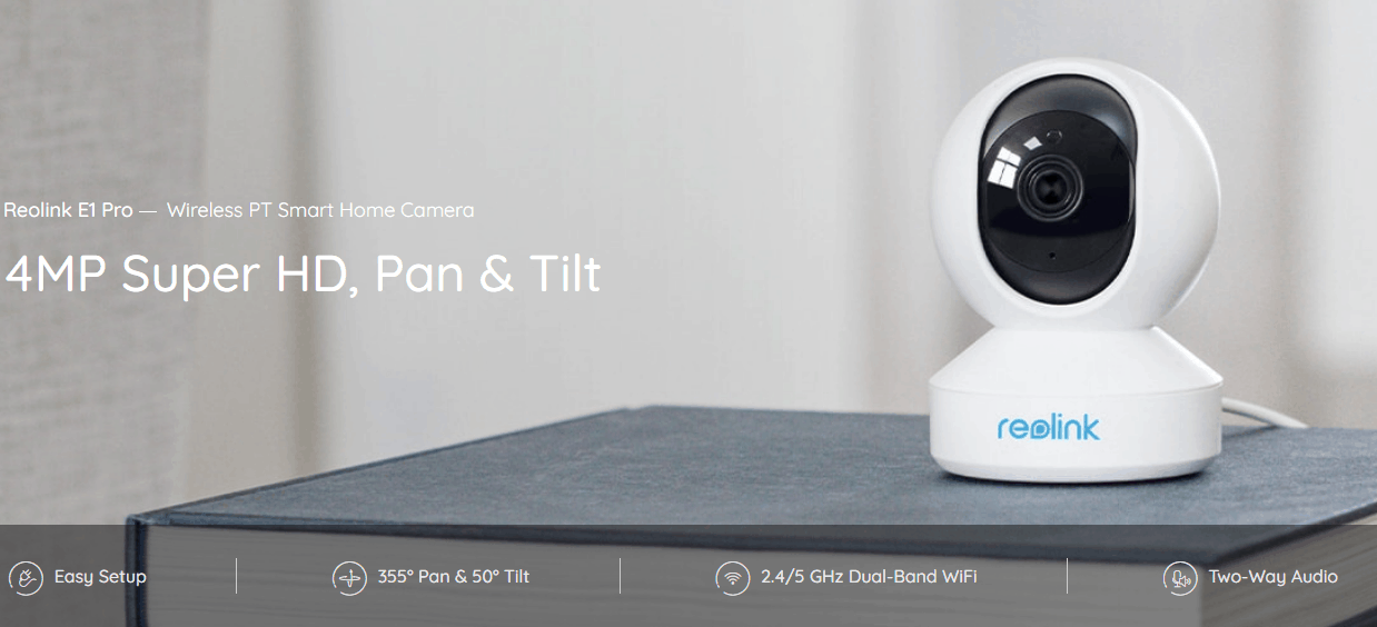 Reolink E1 Pro Review – 4MP PTZ Wi-fi IP Camera with two-way audio, ideal for baby monitoring.