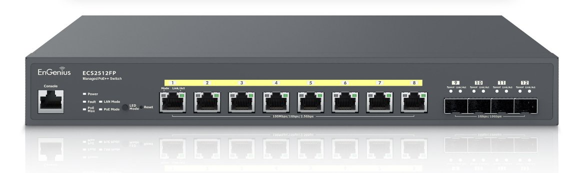 EnGenius ECS2512FP & ECS2512 affordable multi-gig POE switches announced with 2.5Gbps & 10GbE SFP+