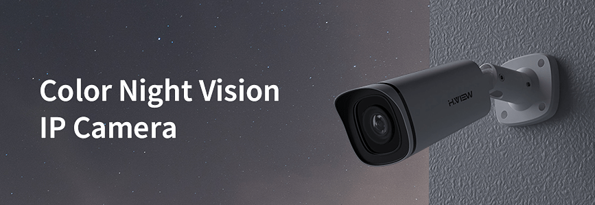 H.View Colour Night Vision Outdoor POE IP Camera Review