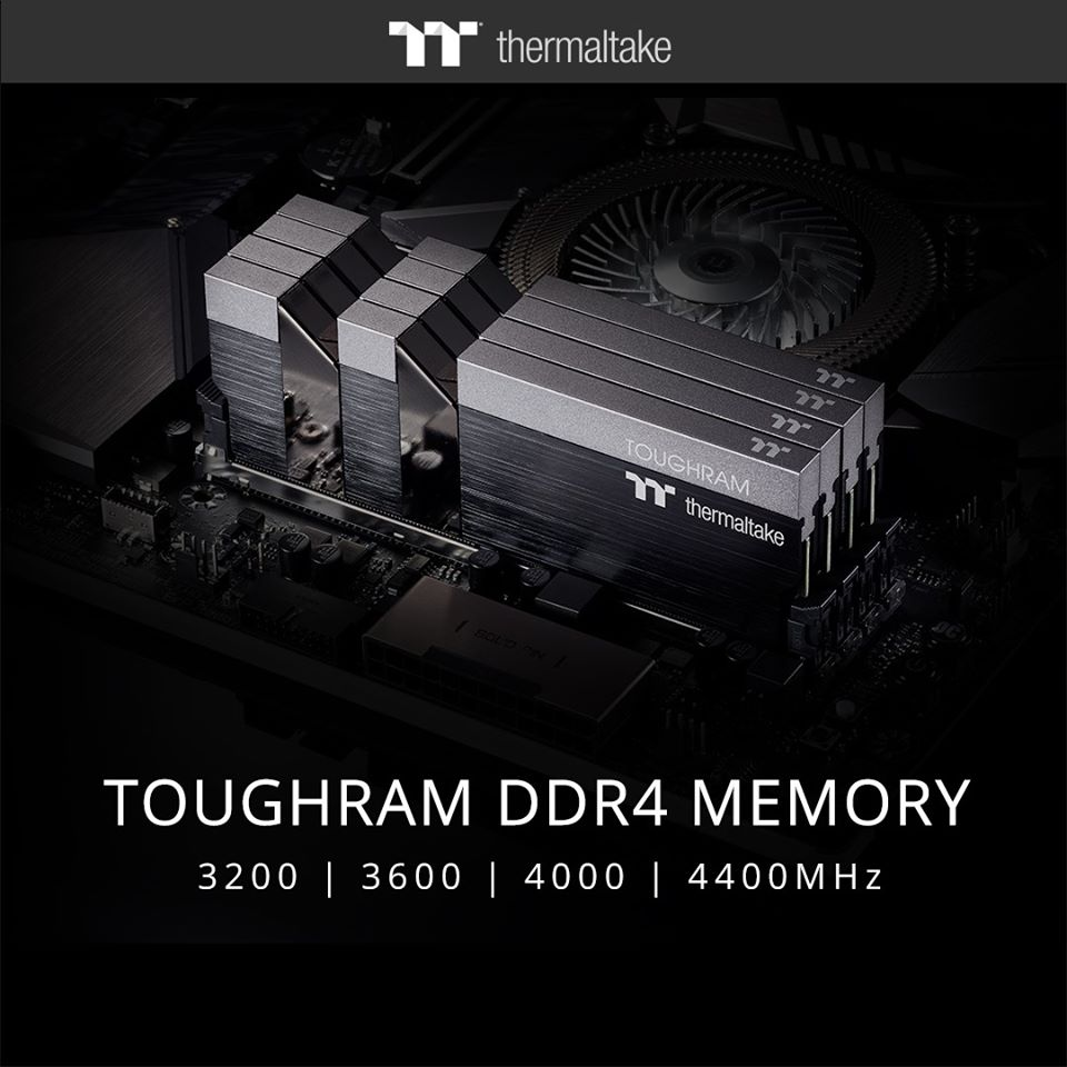 Thermaltake Toughram & Toughram RGB now available in speeds from 3000MHz to 4400MHz including a sleek looking white edition 5