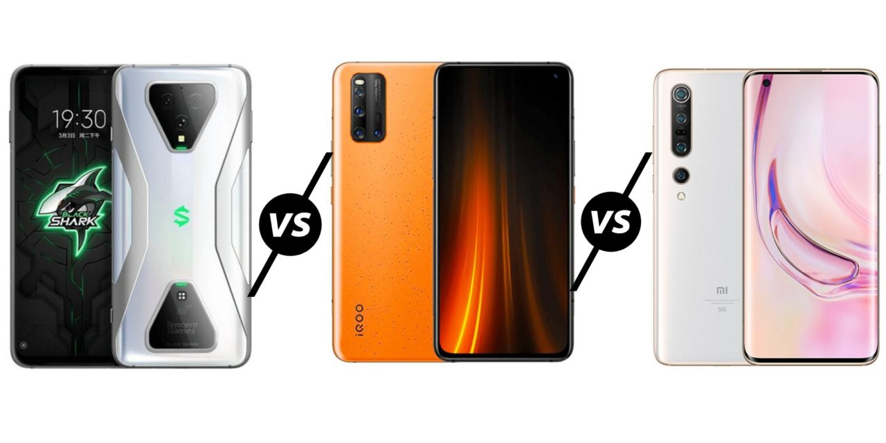 Black Shark 3 Pro vs vivo iQOO 3 5G vs Xiaomi Mi 10 Pro 5G Compared – Which is the best gaming phone?