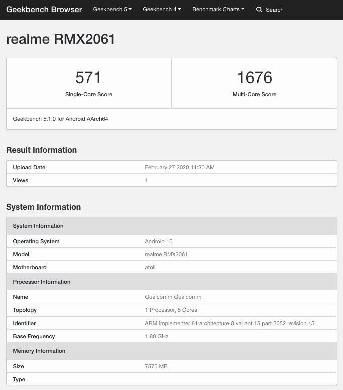 Realme 6  vs Redmi Note 8 Pro - MediaTek Helio G90 Geekbench benchmark revealed showing the performance difference between Helio G90t & Snapdragon 720G of Realme 6 Pro 2