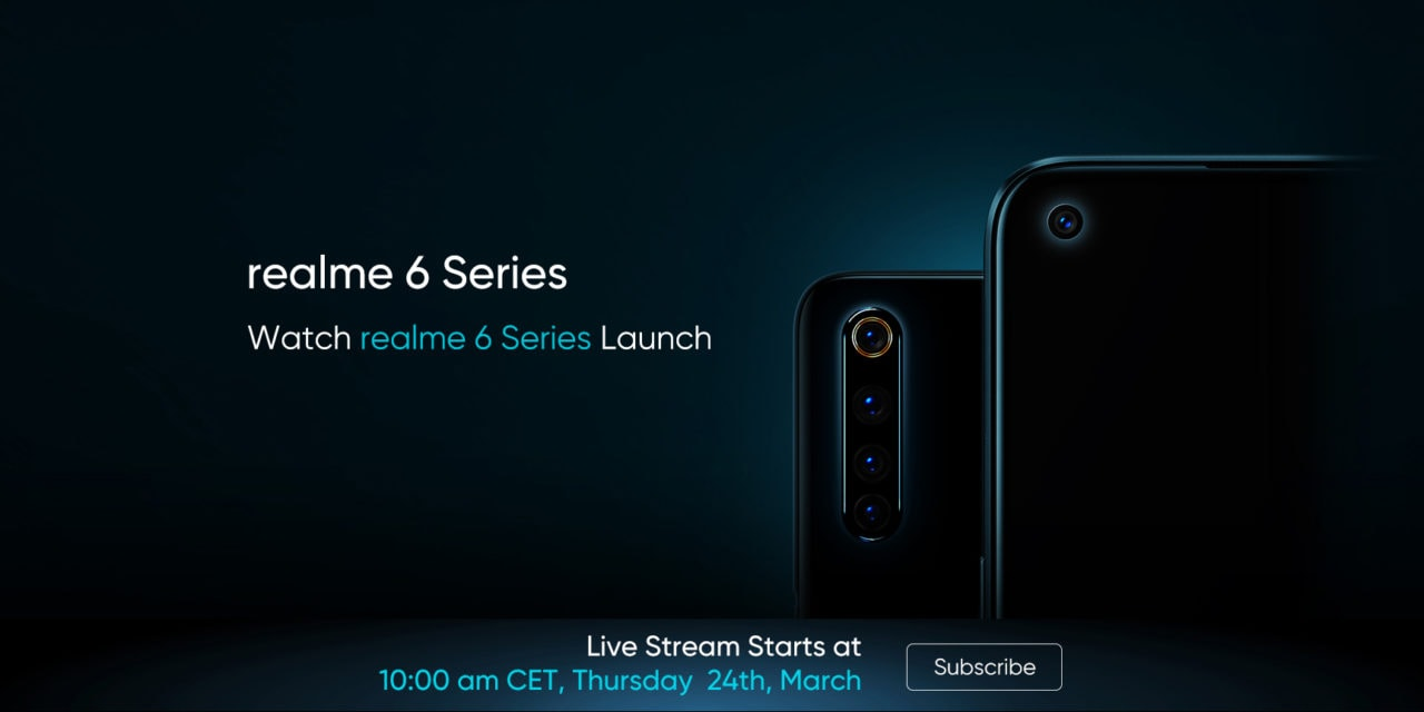 Realme 6 and 6 Pro will launch in the EU & UK on 24th of March – Realme 6i to launch in Asia.