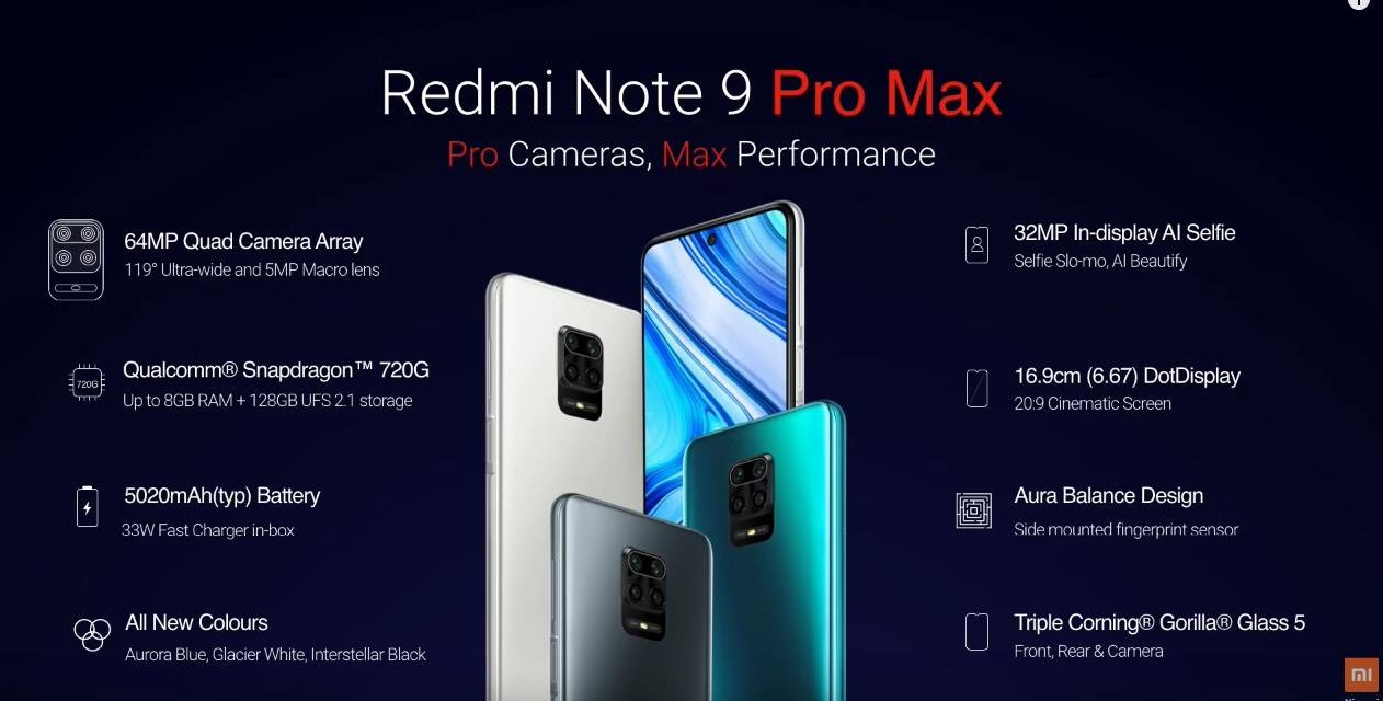 Redmi Note 9 Pro Max announced with Snapdragon 720G – conveniently skipped Helio G90T & SD730G performance comparisons (Antutu is lower than Helio G90T)
