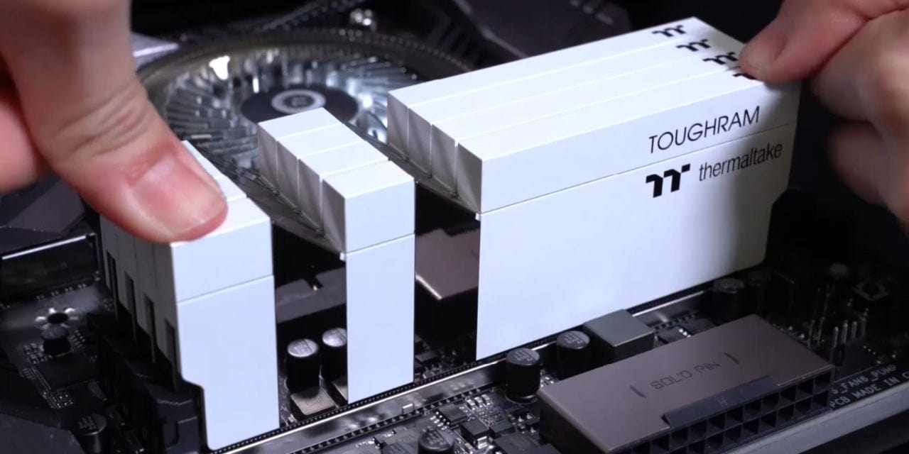 Thermaltake Toughram & Toughram RGB now available in speeds from 3000MHz to 4400MHz including a sleek looking white edition