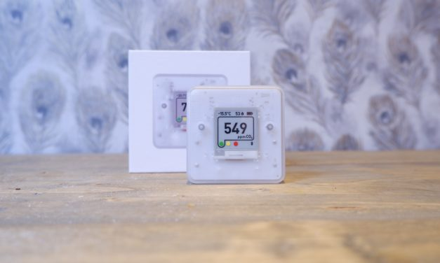 Aranet4 HOME Wireless Indoor Air Quality Monitor measuring CO2, Temperature, Relative Humidity and more