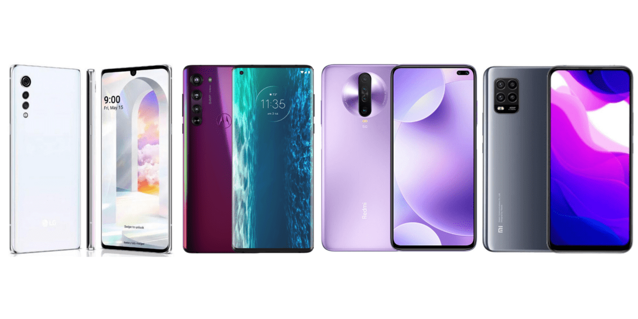 LG Velvet vs Motorola Edge vs Xiaomi Redmi K30 5G vs Xiaomi Mi 10 Lite 5G – Premium-priced vs affordable