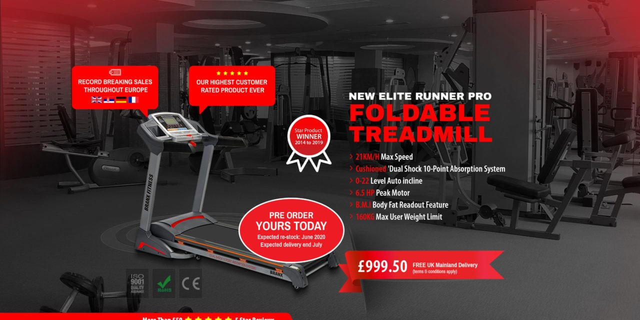 Branx Fitness Foldable Elite Runner Treadmill Review – Keeping me sane & socially distant during lockdown – Best Treadmill Under £1000