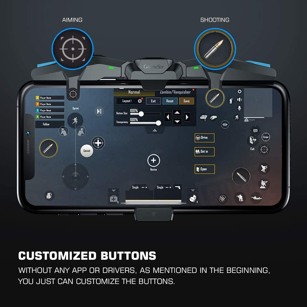 GameSir F4 Falcon Mobile Gaming Controller Review – Physical shoulder buttons for your phone with universally compatibility & no app or pairing. 2