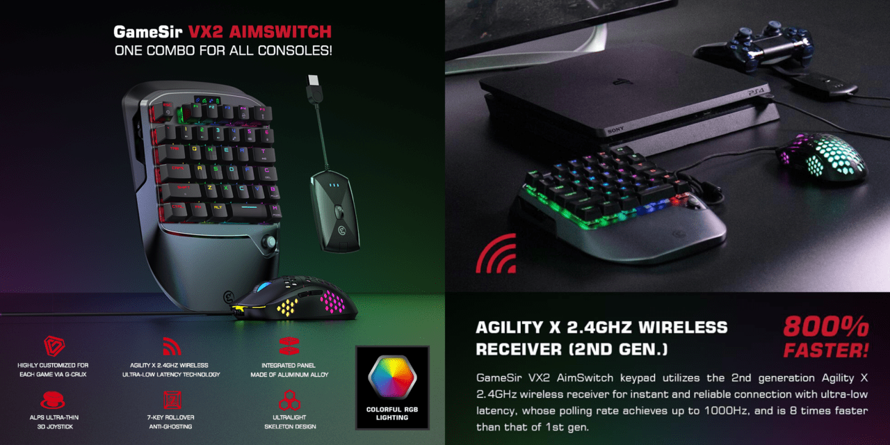GameSir VX2 AimSwitch Review – Mechanical Gaming keyboard & mouse for your PS4, Nintendo Switch & Xbox One