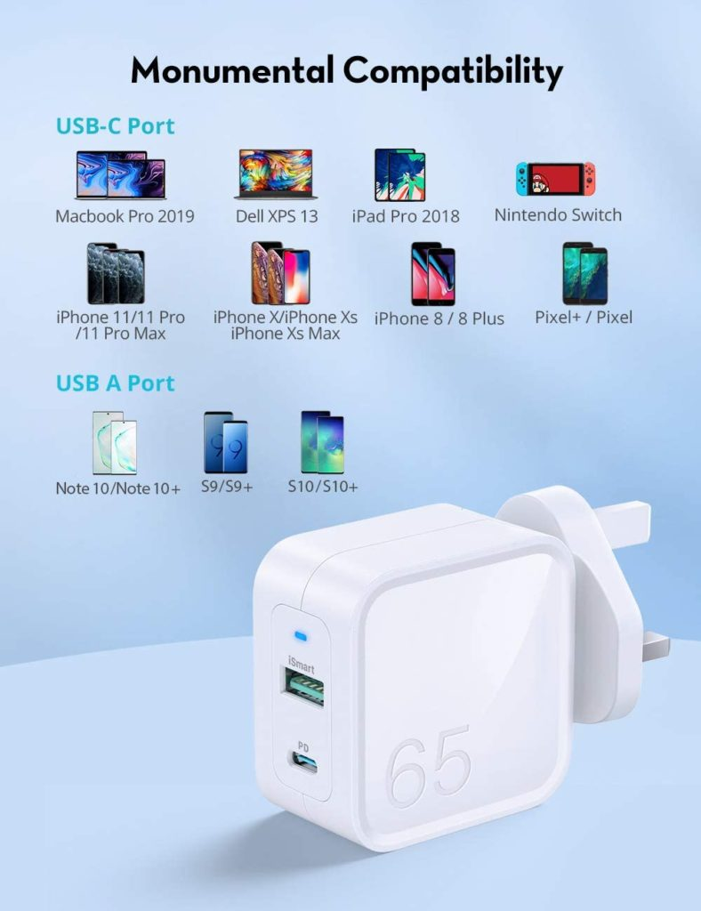 RAVPower PD Pioneer 65W 2-Port GaN Wall Charger Review – A bargain compared to the Apple 61W USB‑C Power Adapter 1
