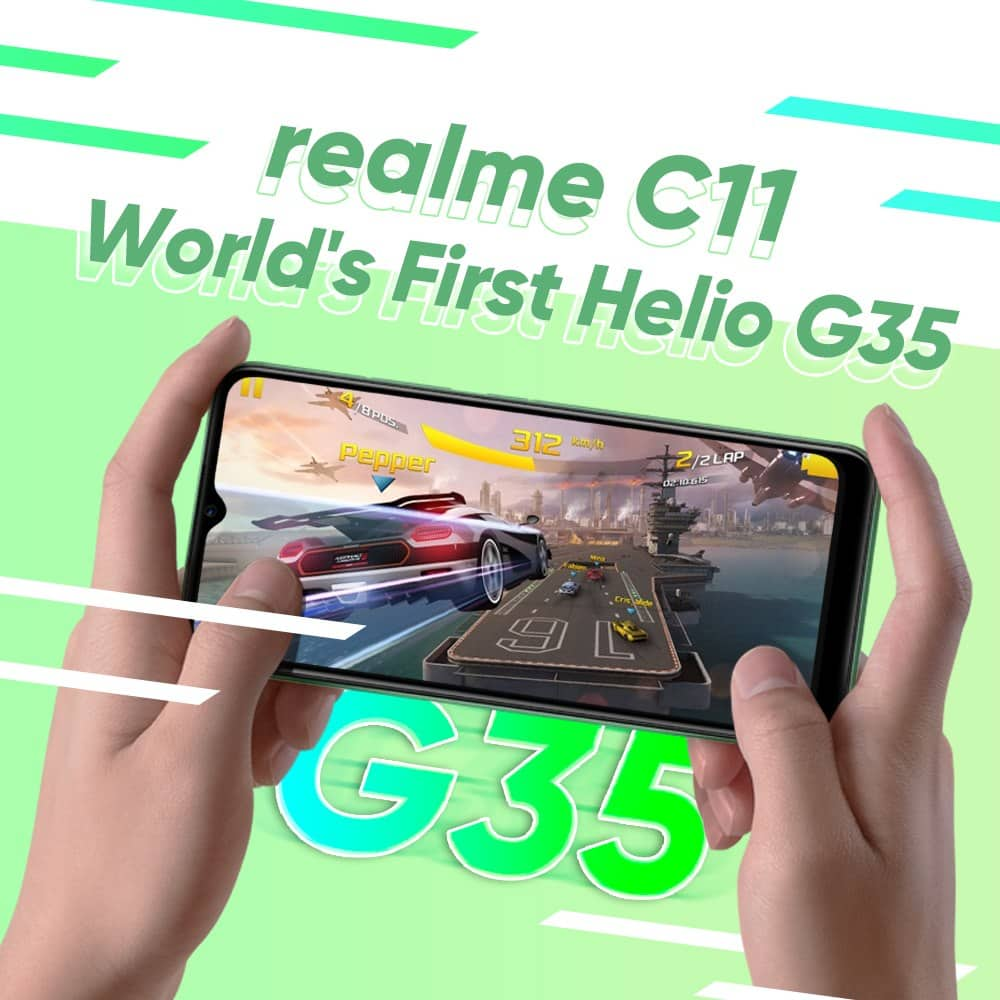 Realme C11 Launched - Cortex A53 based 12nm MediaTek Helio G35 scores 100k+ in Antutu. Phone costs just £82 for 2GB/32GB   (in Malaysia) 4