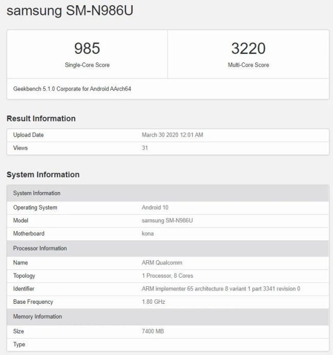 Samsung Galaxy Note 20 – Exynos 990 vs Snapdragon 865+ Geekbench Benchmarks Comparisons – New improved Exynos 990? 2