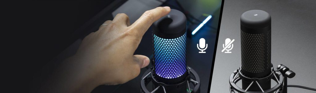 HyperX QuadCast S USB microphone launched with dynamic RGB lighting effects ideal for gaming streamers 24