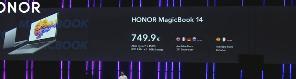 Honor MagicBook 14 & 15 announced with AMD Ryzen 5 4500U. 16-inch MagicBook Pro with Ryzen 5 4600H 15