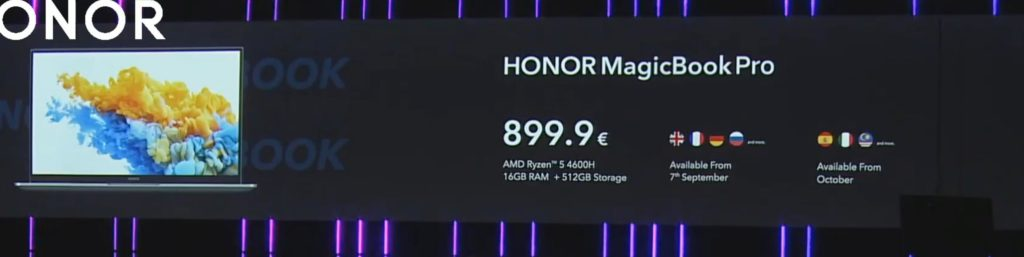 Honor MagicBook 14 & 15 announced with AMD Ryzen 5 4500U. 16-inch MagicBook Pro with Ryzen 5 4600H 16