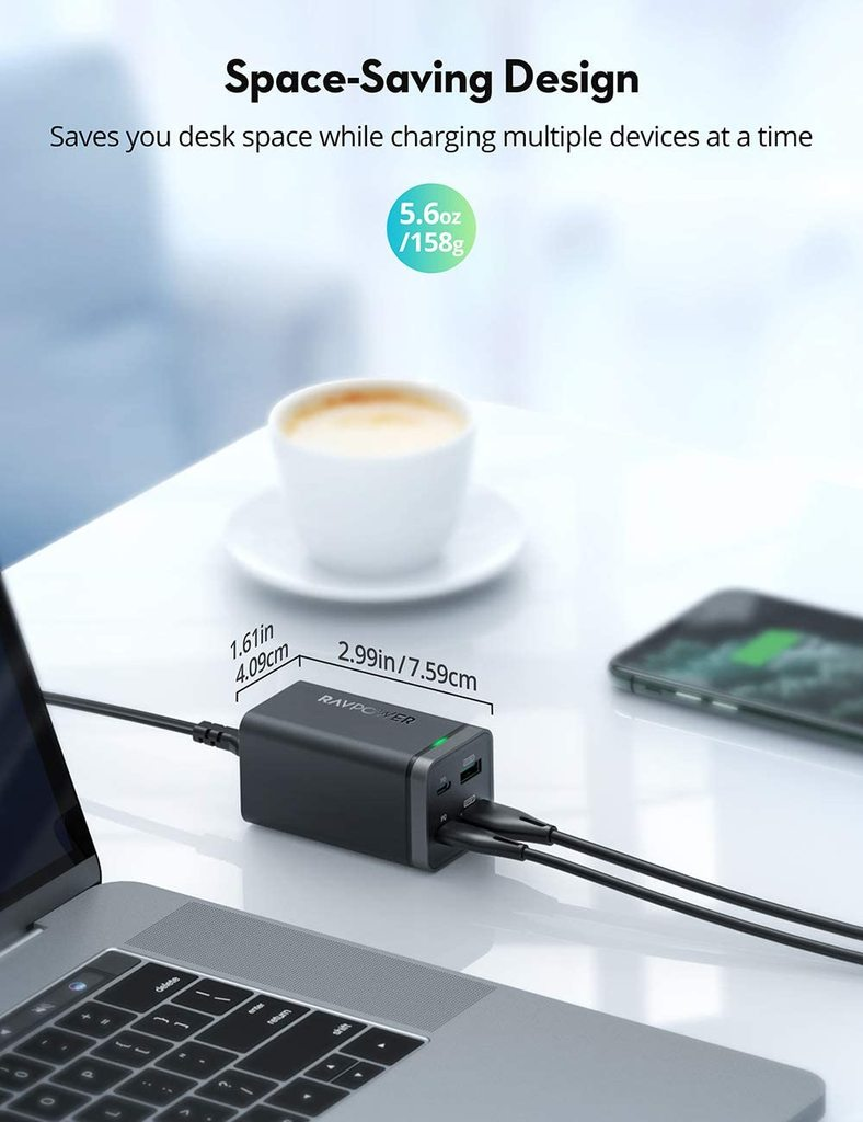 RAVPower PD Pioneer 65W 4-Port GaN USB-C Charger Review 1