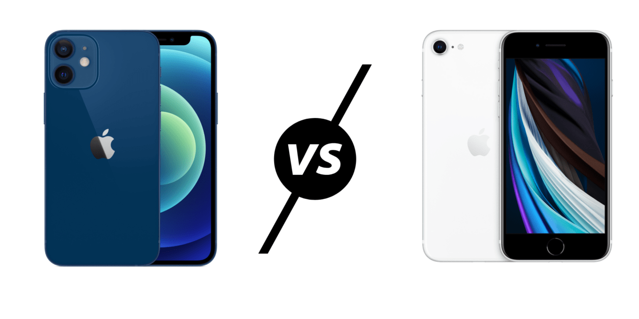 iPhone 12 Mini vs iPhone SE 2nd Gen (2020)  – Bigger screen but smaller phone make this the best small phone for years